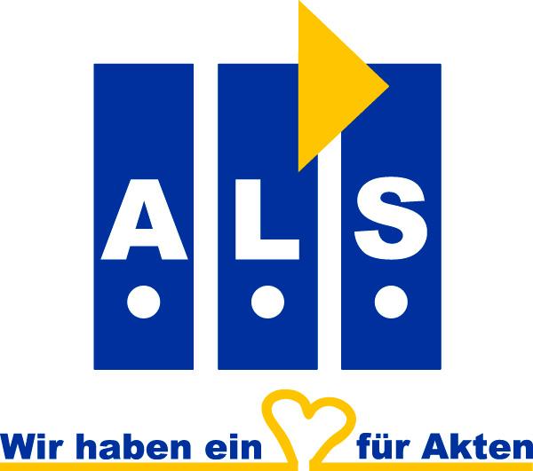 Akten, Logistik und Service GmbH. Logo