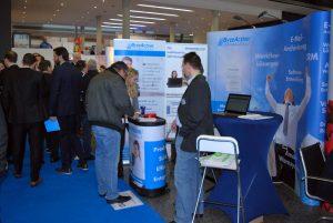 Der gut besuchte Messestand der ByteActionSolutions GmbH auf der IT&Media Messe in Frankfurt