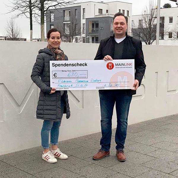 Spende an Förderverein Gymnasium Riedberg
