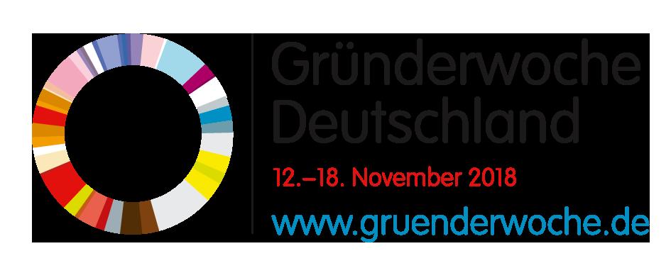 Logo der Gründerwoche 2018. Quelle: gruenderwoche.de