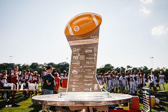 Der Mainlink-Bowl auf dem Football-Feld