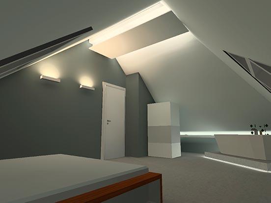 Lichtplanung im Wohnraum Beispiel