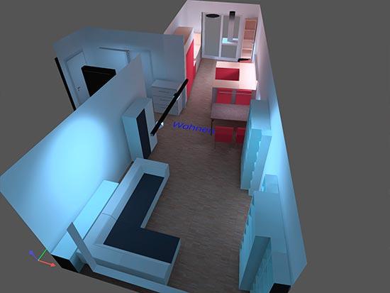 Lichtplanung im Wohnraum Beispiel 2